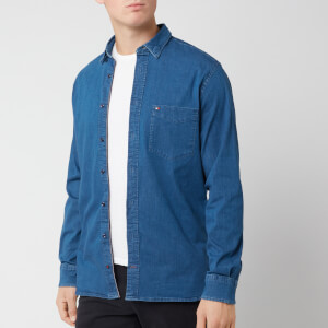 Tommy Hilfiger Men's Organic Stretch Denim Shirt - Indigo