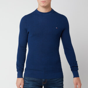 Tommy Hilfiger Men's Mouline Ricecorn Jumper - Blue Quartz