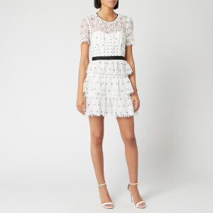 Self-Portrait Women's Hibiscus Floral Guipure Mini Dress - Ivory