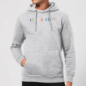 It's A Boy Hoodie - Grey