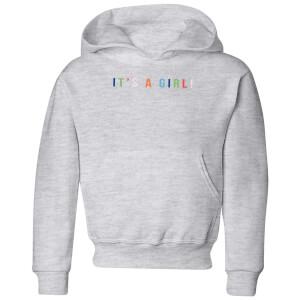It's A Girl Kids' Hoodie - Grey