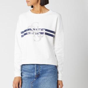 Guess Women's 4G Logo Sweater - True White