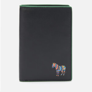 PS Paul Smith Men's Zebra Patch Card Holder - Black