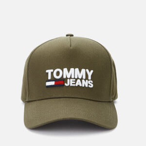 Tommy Jeans Men's Logo Cap - Olive Green
