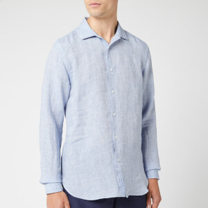 Orlebar Brown Men's Giles Linen Shirt - Navy/White