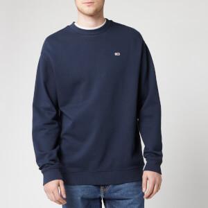Tommy Jeans Men's Washed Crew Sweatshirt - Black Iris
