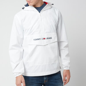 Tommy Jeans Men's Lightweight Pop Over Jacket - Classic White