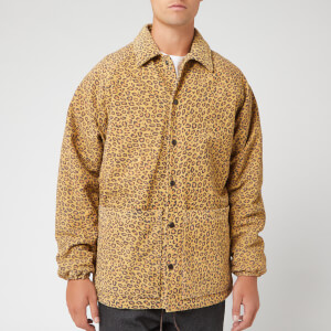 YMC Men's Leopard Print Suede Jocks Jacket - Tan