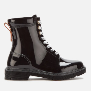 See By Chloé Women's PVC Lace Up Boots - Nero
