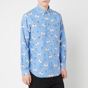 Polo Ralph Lauren Men's Allover Preppy Icons Oxford Shirt - Boathouse Bear