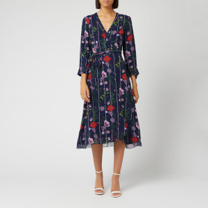Ted Baker Women's Elowisa Hedgerow Printed Wrap Dress - Dark Blue