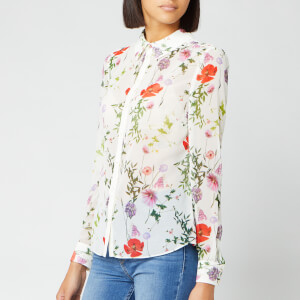 Ted Baker Women's Shivany Hedgerow Printed Shirt - Ivory