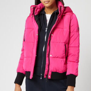 Armani Exchange Women's Short Down Jacket - Bubble Gum