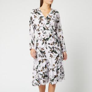 Diane von Furstenberg Women's Elle Dress - Caribean Floral Lavender Fog