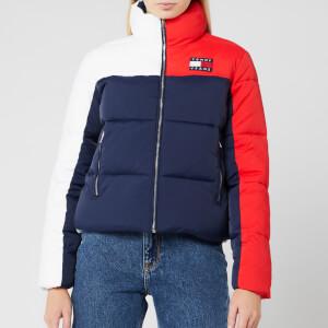 Tommy Jeans Women's Colorblock Puffa Jacket - Black Iris/Multi