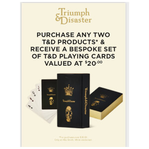 Triumph & Disaster Playing Cards (Free Gift)