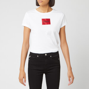 HUGO Women's Dennja Box Logo T-Shirt - White