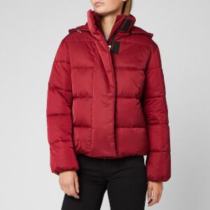 HUGO Women's Fenjas Short Puffa Jacket - Open Red