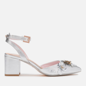 Ted Baker Women's Odesca Floral Embellished Block Heeled Sandals - Silver