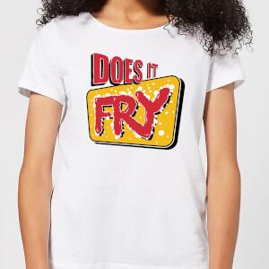 Does It Fry Logo Women's T-Shirt - White