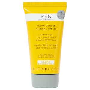 REN Clean Skincare Screen Mineral SPF30 Mattifying Face Broad Spectrum Sunscreen (Free Gift)