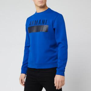 Armani Exchange Men's Chest Logo Crew Sweat - Ultramarine