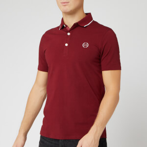 Armani Exchange Men's Mercerised Polo Shirt - Pomegranate