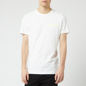 Calvin Klein Jeans Men's Institutional Logo T-Shirt - Bright White/Safety Yellow