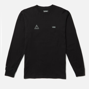 Vans X Harry Potter Men's Deathly Hallows Long Sleeve T-Shirt - Black