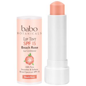 Babo Botanicals SPF15 Tinted Lip Conditioner - Beach Rose 0.15oz