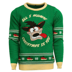 Crash Bandicoot Kintted Christmas Jumper