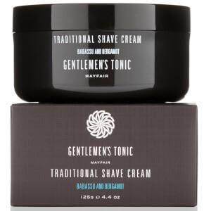 Gentlemen's Tonic Babassu and Bergamot Traditional Shave Cream 125g (Free Gift)