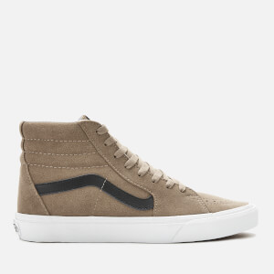 Vans Men's Sk8-Hi Suede Trainers - Portabella/True White