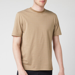 Folk Men's Pencil Stripe T-Shirt - Oatmeal Ecru