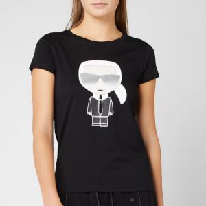 Karl Lagerfeld Women's Ikonik Karl T-Shirt - Black