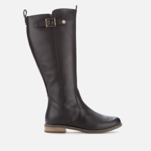 Barbour Women's Rebecca Leather Calf Length Boots - Black