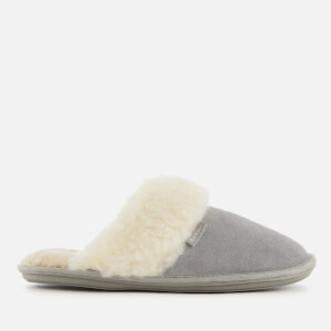 Barbour Women's Lydia Suede Mule Slippers - Grey