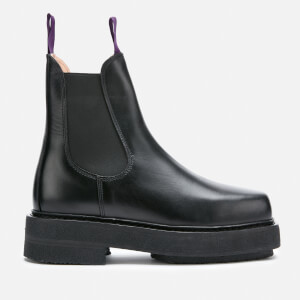 Eytys Ortega Leather Chunky Chelsea Boots - Black