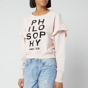 Philosophy di Lorenzo Serafini Women's Logo Frill Sleeve Sweatshirt - Pink