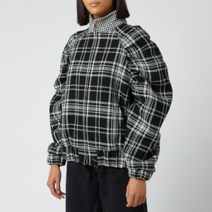 MSGM Women's Check Print Jacket - Black/White