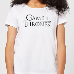 Game of Thrones Stacked Logo Women's T-Shirt - White