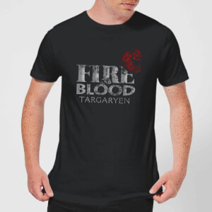 Game of Thrones Fire And Blood Men's T-Shirt - Black
