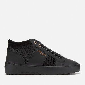 Android Homme Men's Propulsion Mid Geo Trainers - Black Rubber Mosaic Mesh