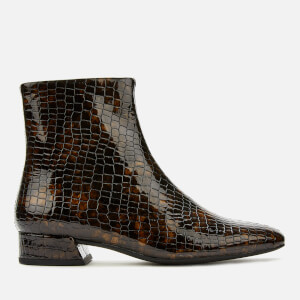 Vagabond Women's Joyce Embossed Leather Ankle Boots - Dark Brown