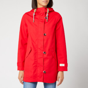 Joules Women's Coast Mid Length Waterproof Jacket - Red
