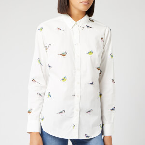 Joules Women's Lucie Woven Shirt - White Birds