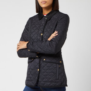 Joules Women's Newdale Quilted Coat - True Black