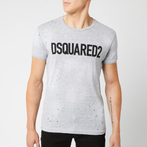 Dsquared2 Men's Logo Paint Splash T-Shirt - Grey Melange