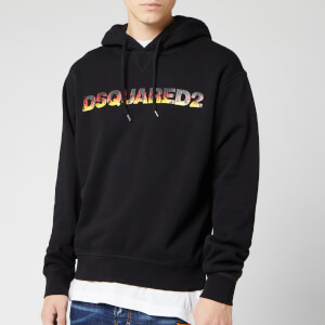 Dsquared2 Men's Flame Logo Hoodie - Black