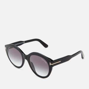 Tom Ford Women's Rosanna Sunglasses - Shiny Black/Gradient Smoke